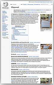 Der pflegesessel auf-Wikipedia beschrieben